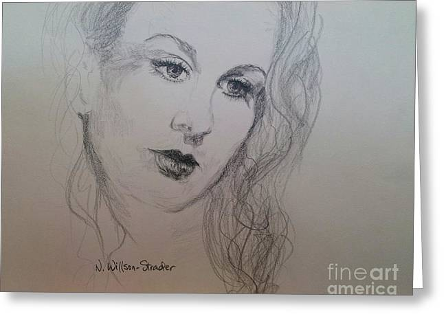 Lovely Vivien Greeting Card by N Willson-Strader