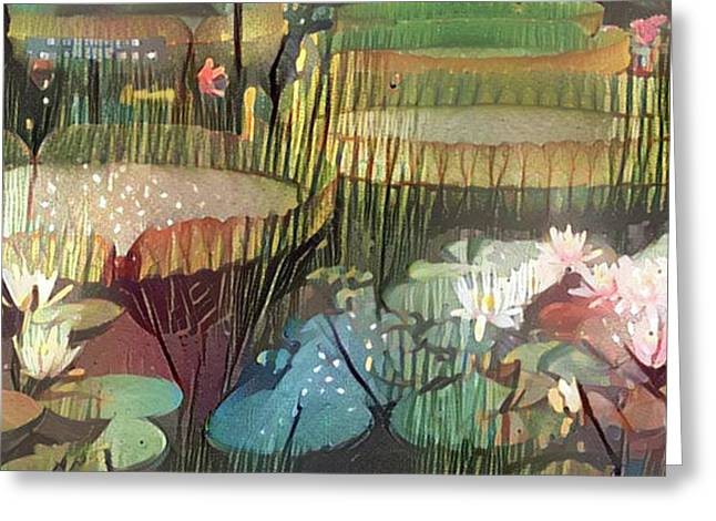Lovely Waterlilies 1 Greeting Card