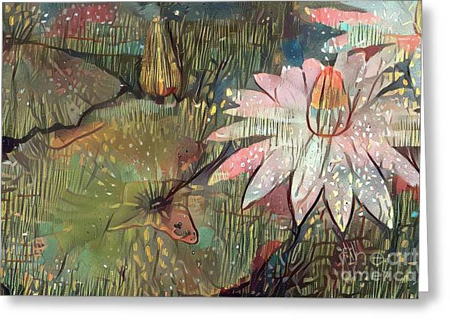 Lovely Waterlilies 4 Greeting Card