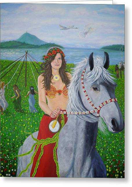 Lover / Virgin Goddess Rhiannon - Beltane Greeting Card