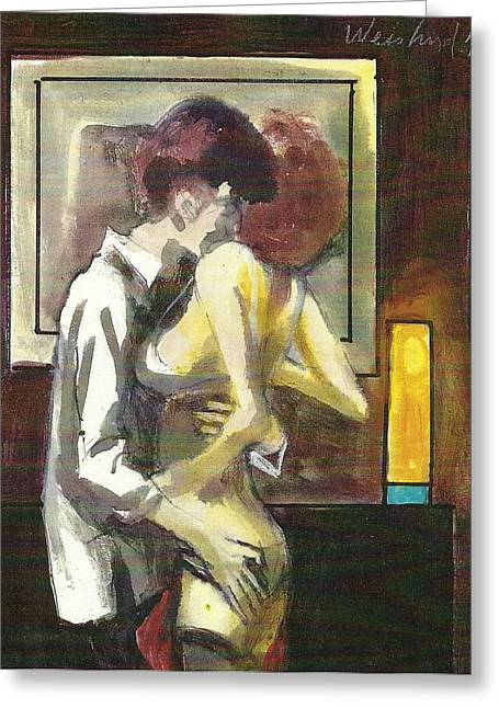 Lovers 111 Greeting Card by Harry  Weisburd