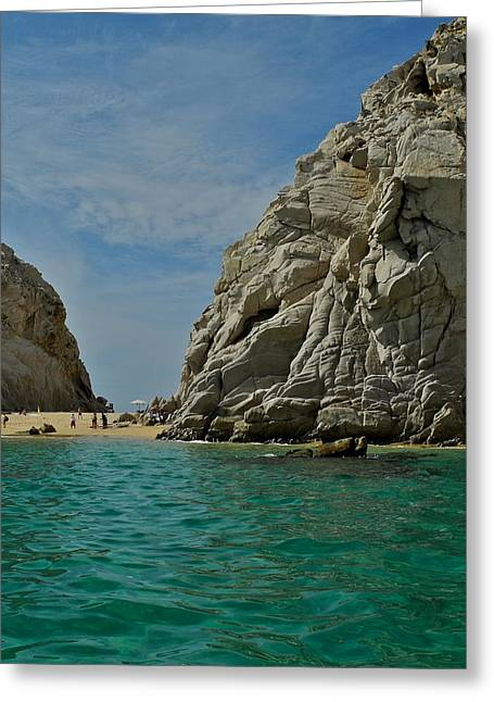 Lovers Beach In Cabo San Lucas Greeting Card by Kirsten Giving