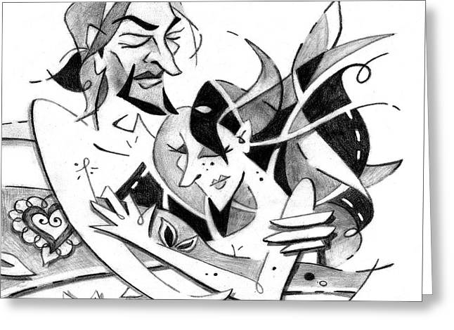 Lovers - Couple In Love - Amor Amantes Greeting Card