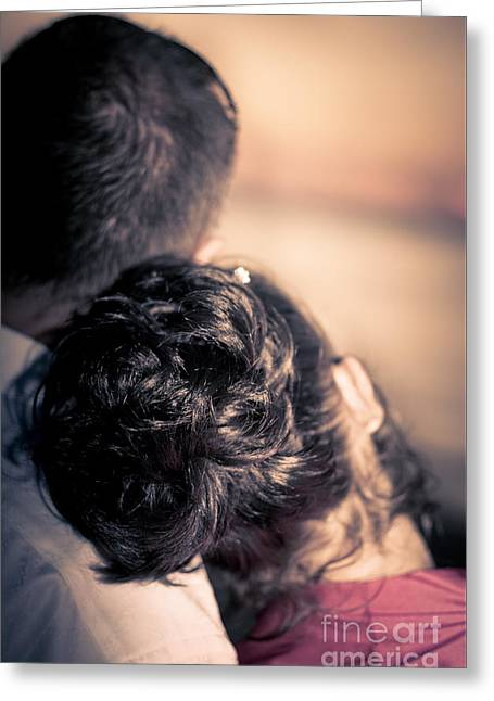 Lovers Cuddle Greeting Card by Jorgo Photography - Wall Art Gallery