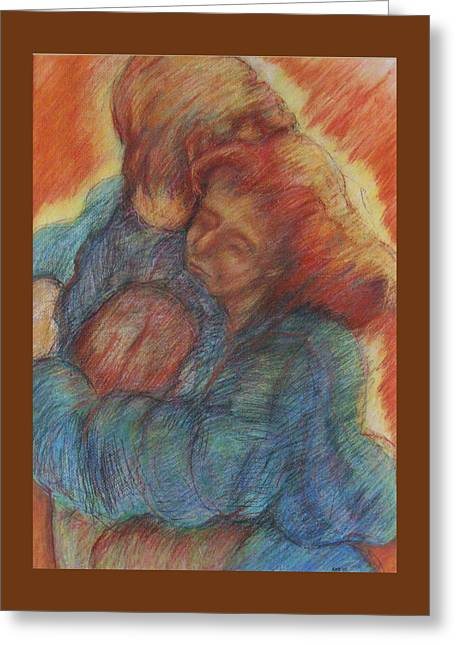 Lovers Embrace Greeting Card