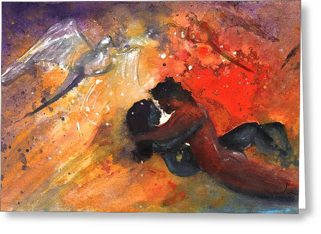 Lovers In Paphos Greeting Card