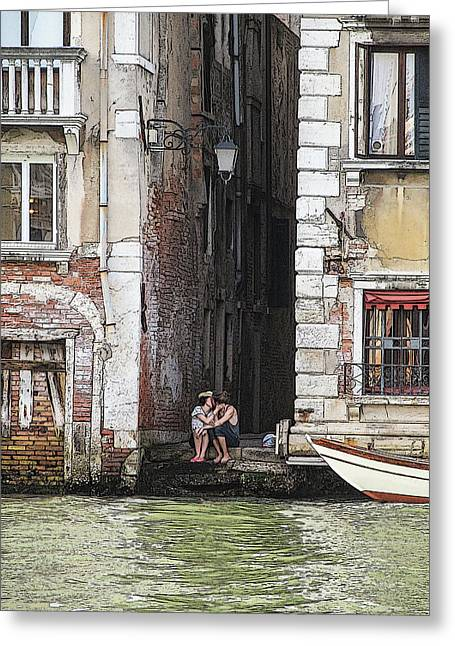 Lovers In Venice Greeting Card