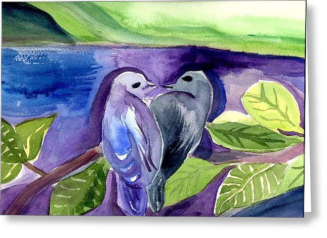 Lovers Greeting Card by Janet Doggett