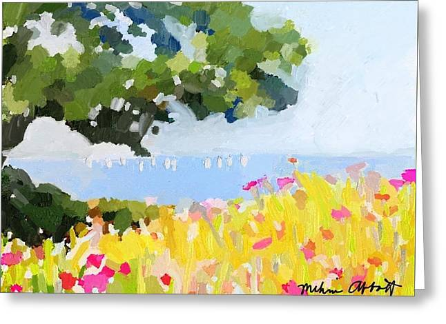Lover's Lane, Rockport, Ma Greeting Card