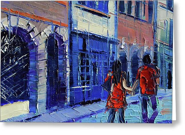 Lovers Greeting Card by Mona Edulesco