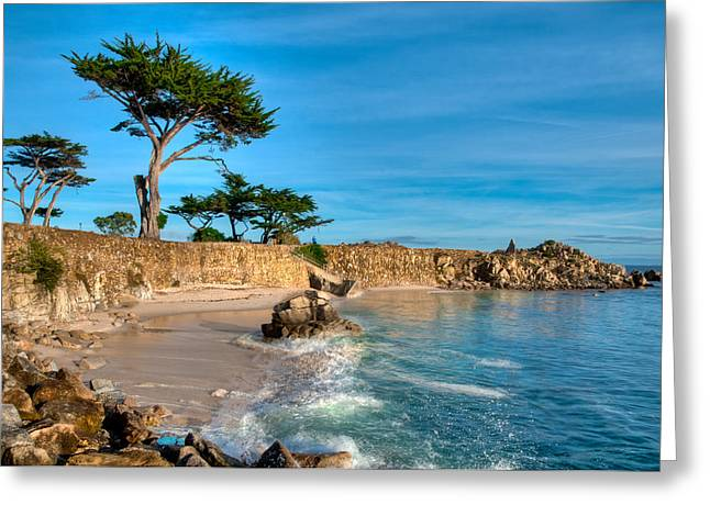 Lovers Point Pacific Grove Early Morning Greeting Card