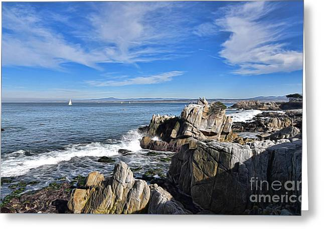 Lovers Point Park Greeting Card by Gina Savage