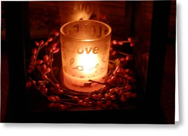 Love's Glow Greeting Card