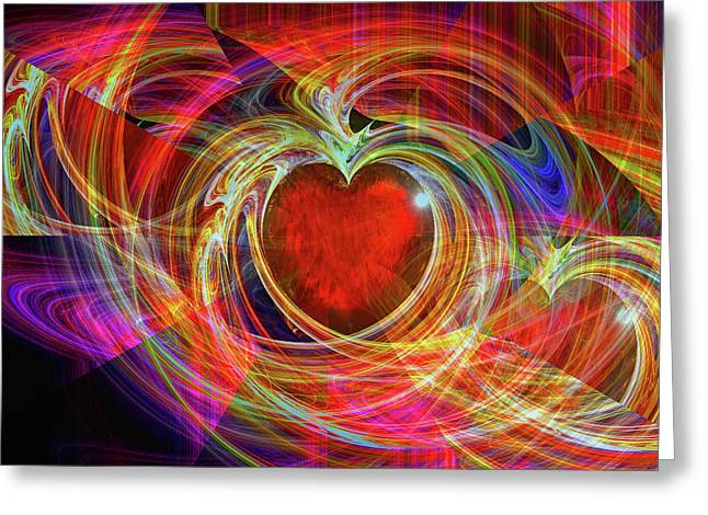 Durst Greeting Cards - Loves Joy Greeting Card by Michael Durst