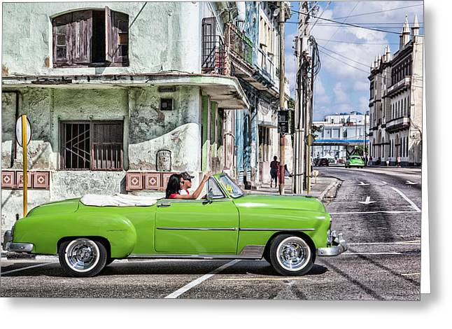 Lovin' Lime Green Chevy Greeting Card