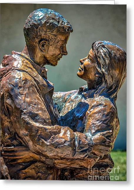 Loving Couple Statue #2 Greeting Card