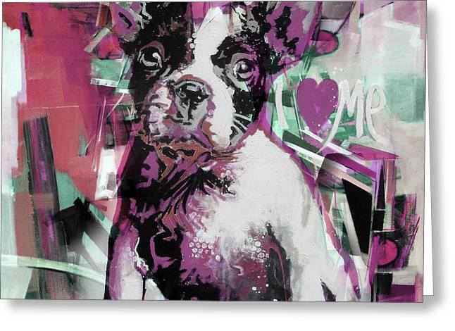 Loving Dog 66n Greeting Card