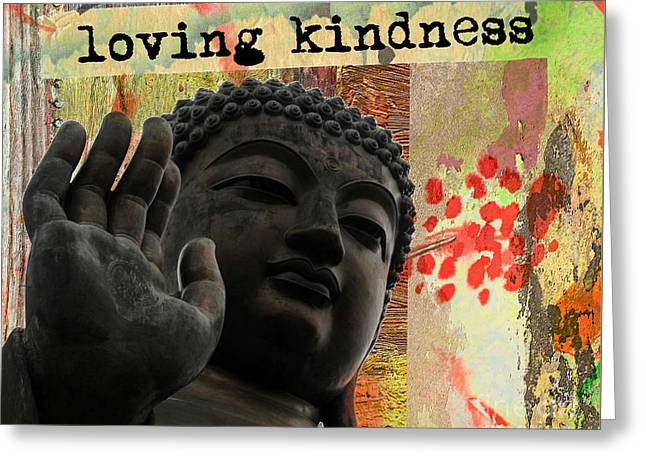 Loving Kindness. Buddha Greeting Card