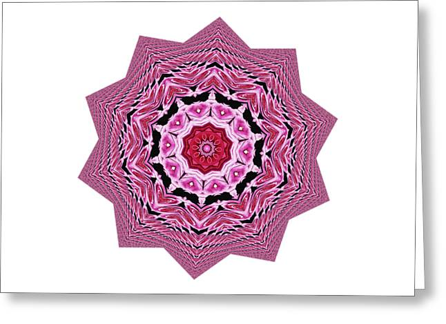 Loving Rose Mandala By Kaye Menner Greeting Card