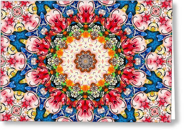 Loving Rose Mandala Greeting Card
