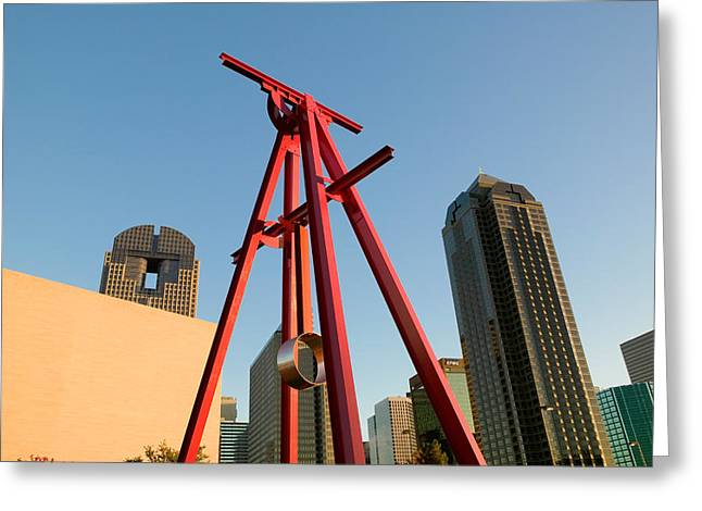 Low Angle View Of A Sculpture, Dallas Greeting Card