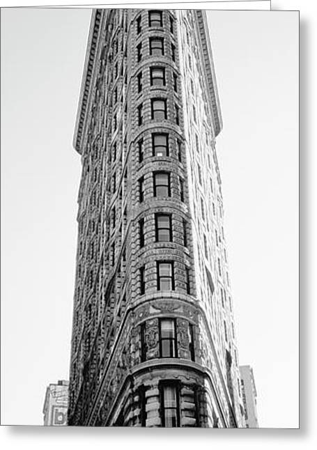 Low Angle View Of An Office Building, Flatiron Building, Manhattan, New York City, New York State Greeting Card