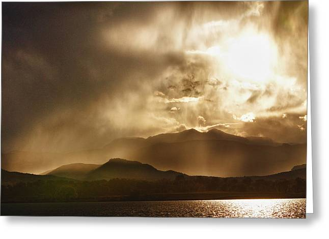 Low Clouds On The Colorado Rocky Mountain Foothills Greeting Card by James BO  Insogna