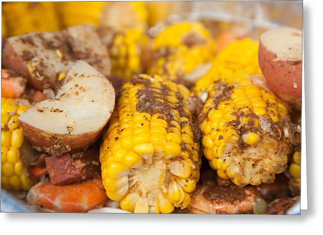 Low Country Boil Greeting Card by Erin Cadigan