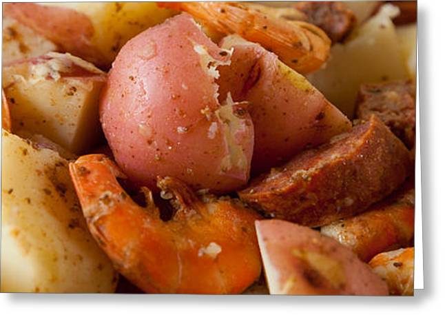 Low Country Boil Panorama Greeting Card by Erin Cadigan