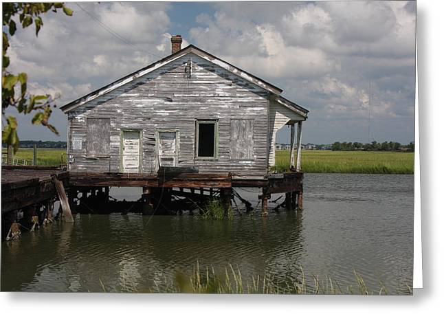 Low Country Fish Shack Greeting Card