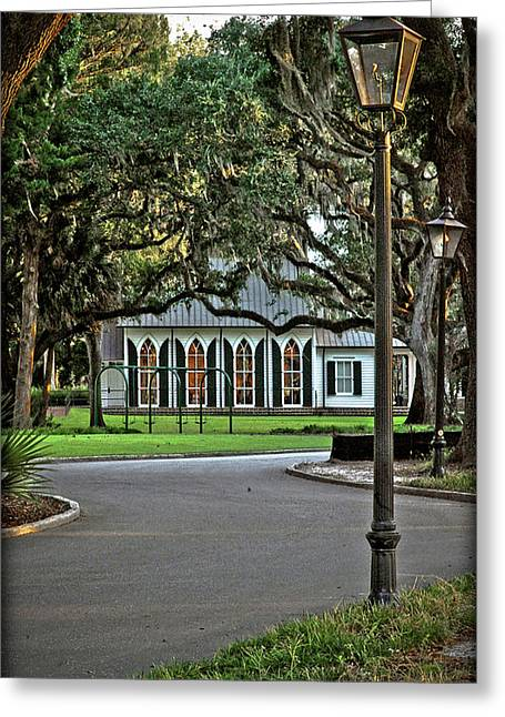Low Country Wedding Chapel Greeting Card by Margaret Palmer