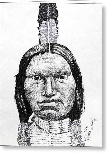Low Dog Sioux Greeting Card