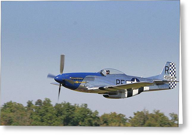 Low Flyer Greeting Card by Donald Tusa