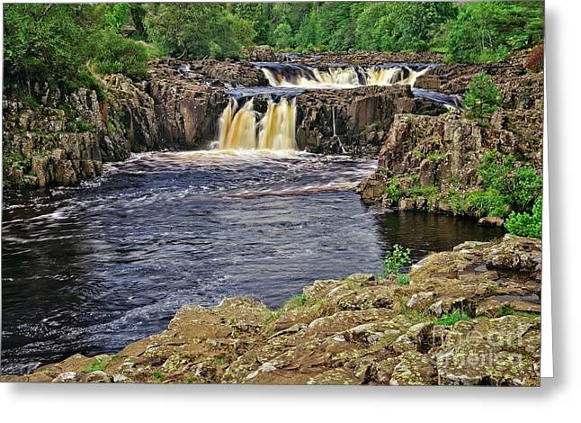 Low Force Waterfall, Teesdale, North Pennines Greeting Card