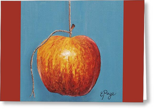Low Hanging Apple Greeting Card by Emily Page