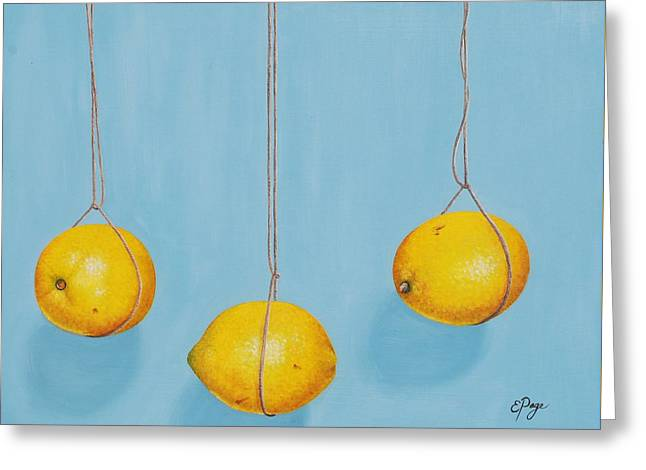 Low Hanging Lemons Greeting Card by Emily Page