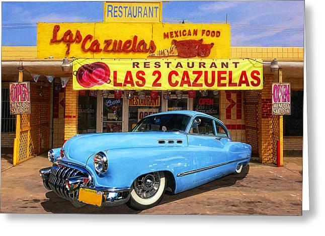 Low Rider At Las Cazuelas Greeting Card by Ron Regalado