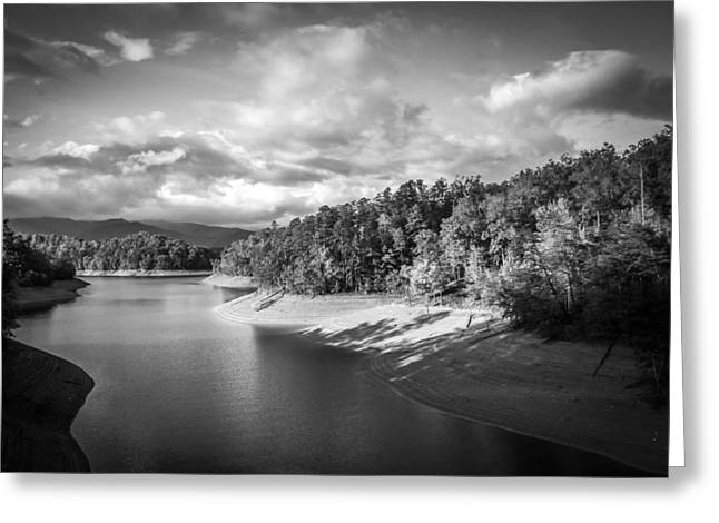 Low Sun Across The Nantahala River As The Clouds Clear Away Greeting Card by Kelly Hazel