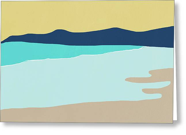 Low Tide- Art By Linda Woods Greeting Card by Linda Woods
