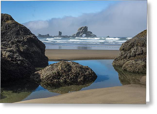 Low Tide At Ecola Greeting Card