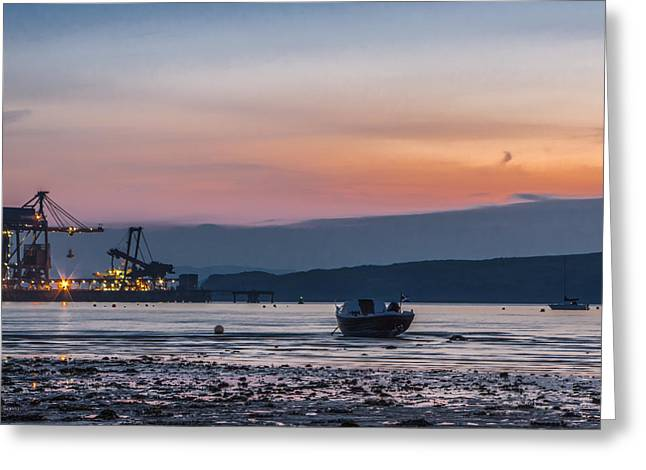 Low Tide At Fairlie Greeting Card