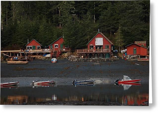 Low Tide At Fish Camp Greeting Card