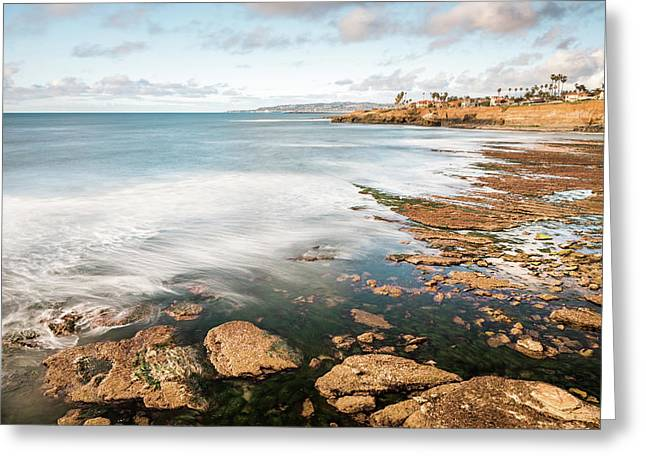 Low Tide At Sunset Cliffs Greeting Card