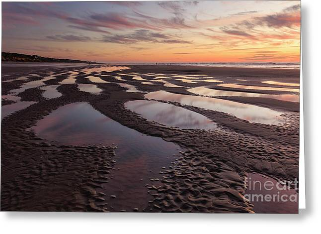 Low Tide At Sunset --horizontal Greeting Card