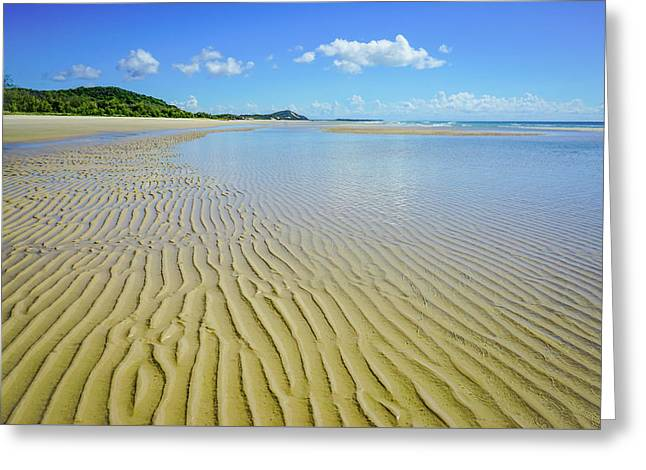 Low Tide Beach Ripples Greeting Card