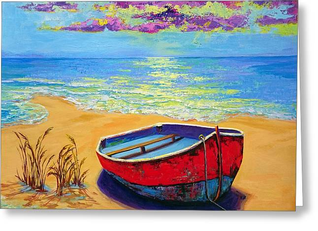 Low Tide - Impressionistic Art, Landscpae Painting Greeting Card