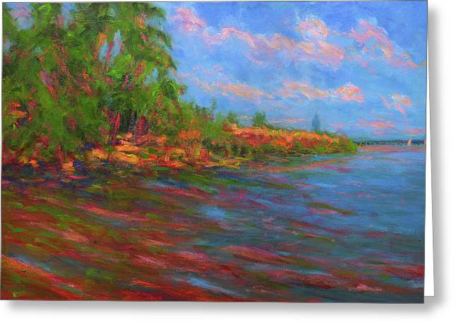 Low Tide In Mobile Bay Greeting Card