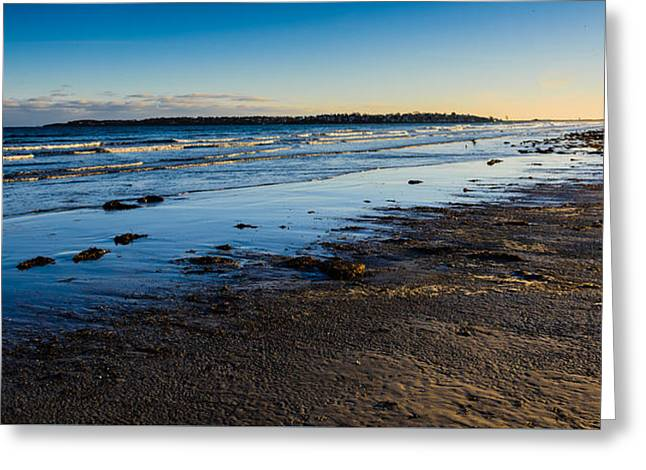 Low Tide In Winter Greeting Card