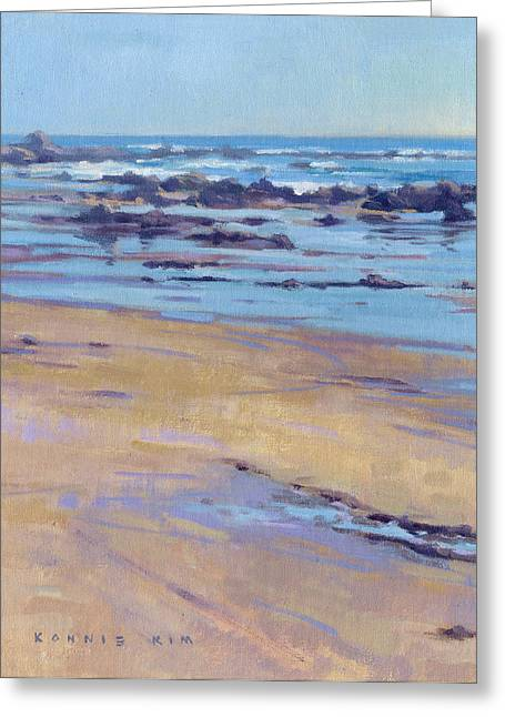 Greeting Card featuring the painting Low Tide  by Konnie Kim