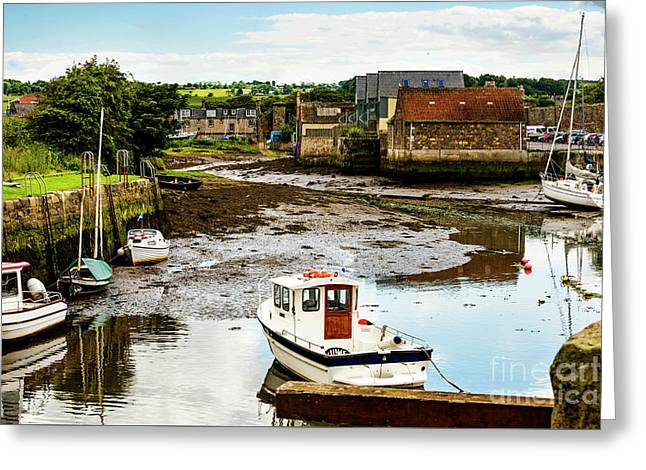 Low Tide Greeting Card by MaryJane Armstrong